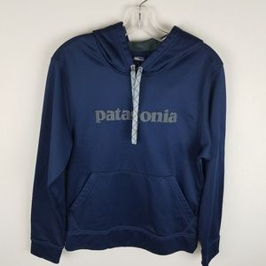 Patagonia Unisex Hoodie Navy XS With Pocket